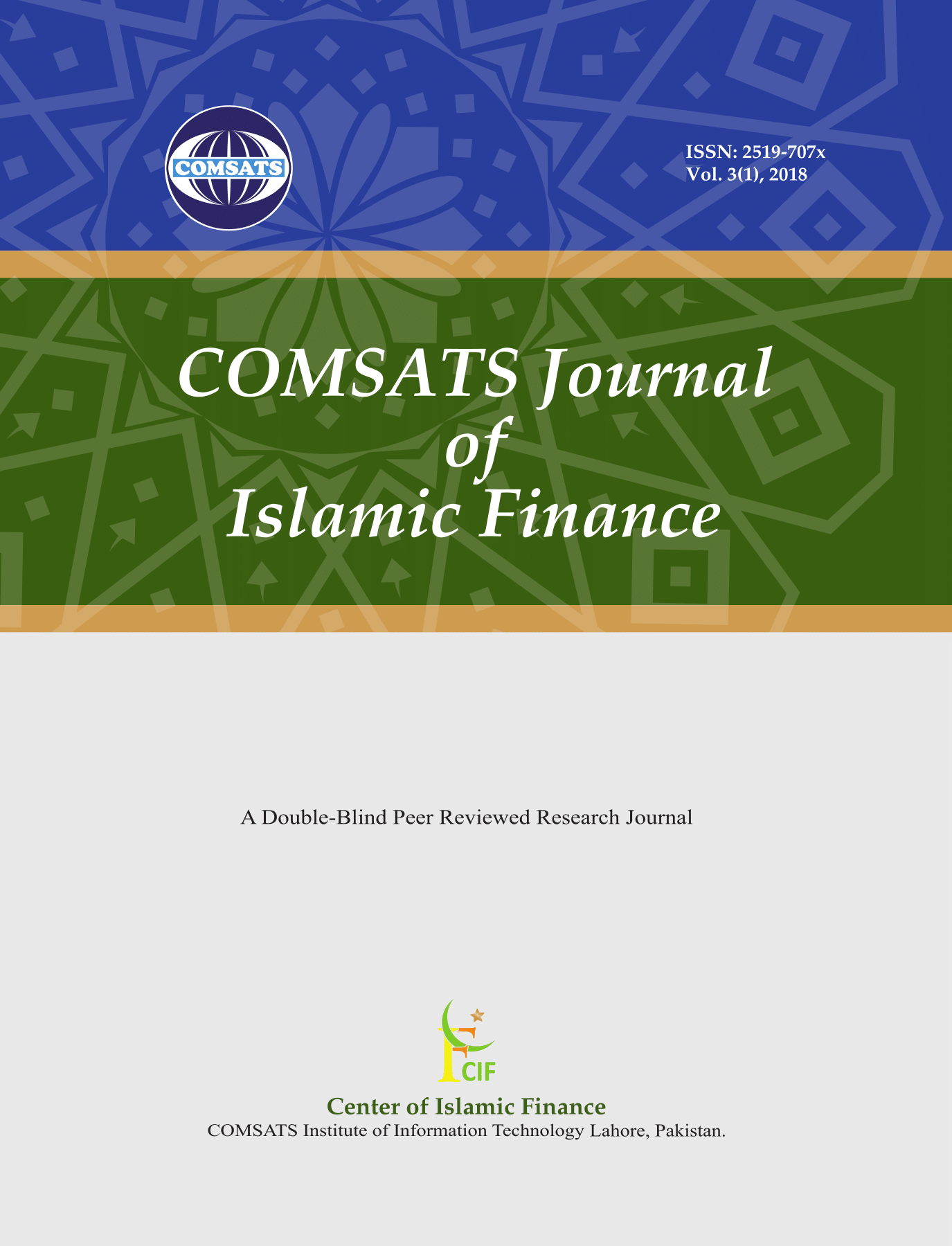 COMSATS Journal of Islamic Finance (CJIF)