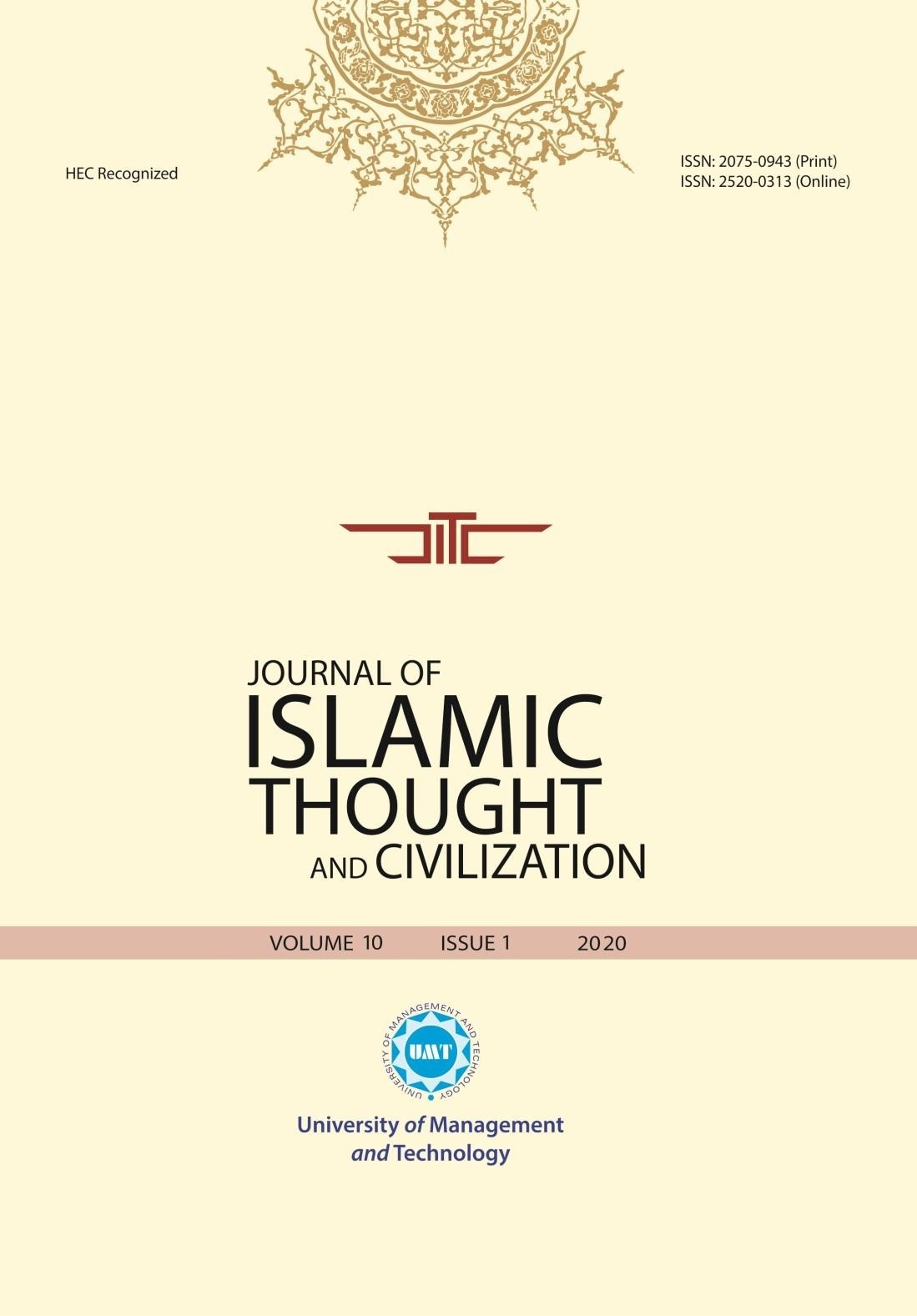 Journal of Islamic Thought and Civilization