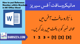 How to put Reference Number within Brackets in MS Office Word
